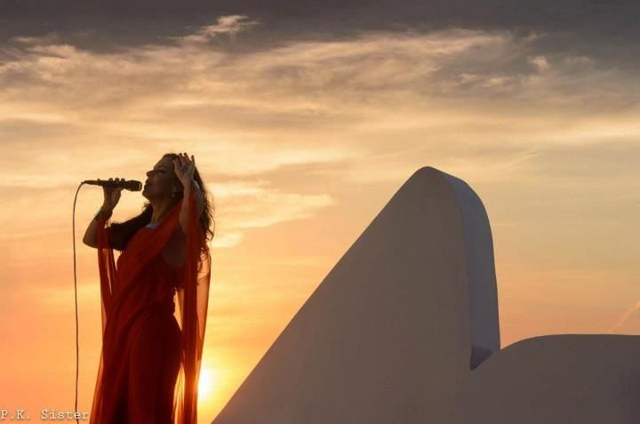 Bebel Gilberto performs in front of Sugar Loaf for live DVD