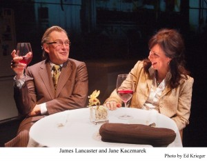 "James Lancaster and Jane Kaczmarek in ""The Snake Can"""