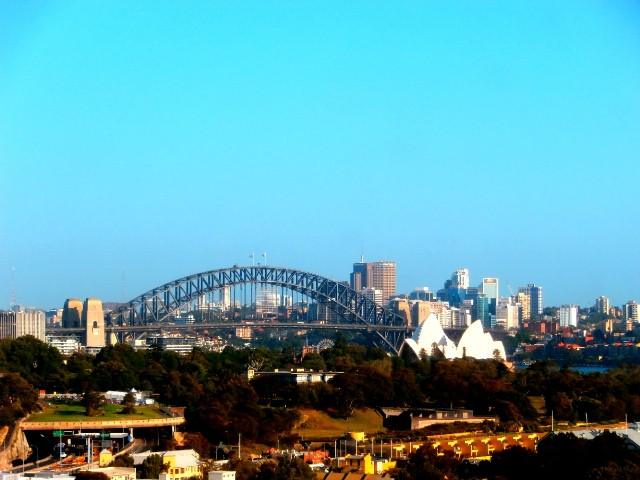 Sydney on a clear day