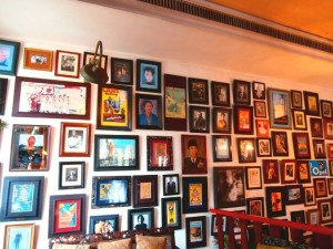 Cafe Batavia photo wall in Jakarta