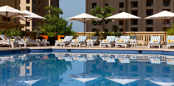 Swimming Pool at the Ramada Plaza Jumeirah Beach Residence