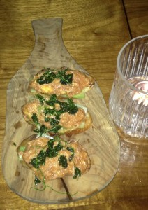 Crab Toast at Hinoki and the Bird