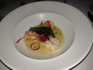 grilled prawns with coconut curry sauce