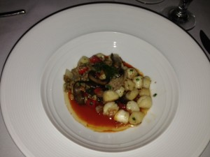 Taylor Bay Scallop with Italian sausage and crimini mushrooms