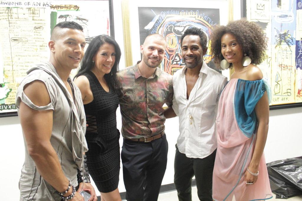 PopLife Crew: Steve V. Rodriguez & Vivian Meade (Progressive Pulse), Mike Barber (Soho Contemporary Art), Carlton Jones (Cache, Host), Kahshanna Evans (Kissing Lions PR)