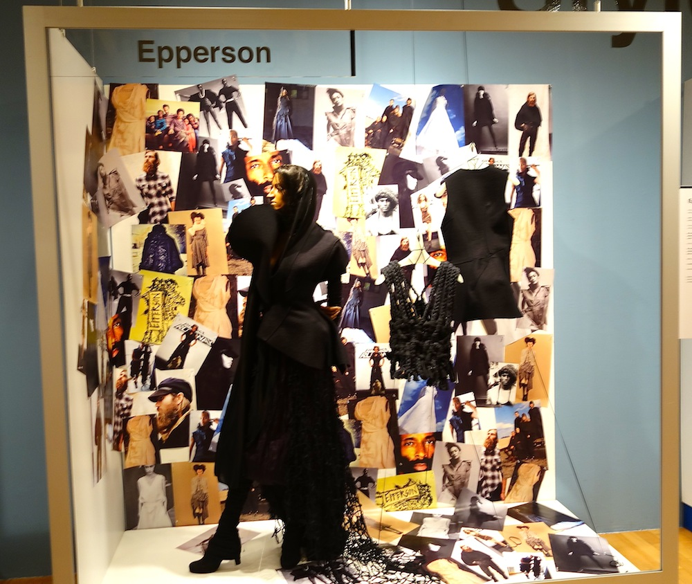 "Epperson at ""Black Dress"" Exhibit for Pratt Institute"