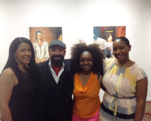 Khaled at his exhibit at the African America Arts & Culture Center in San Francisco