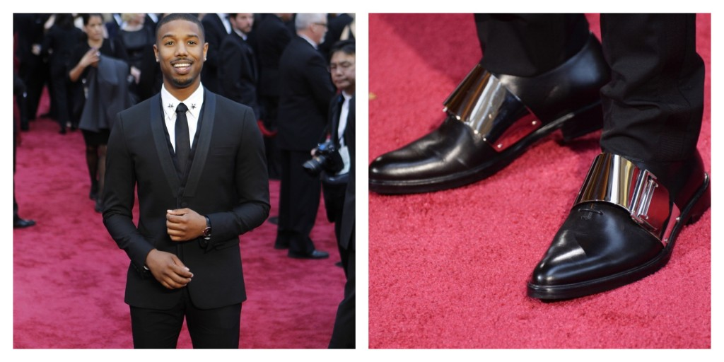 Michael B. Jordan wearing Givenchy shoes at Oscars