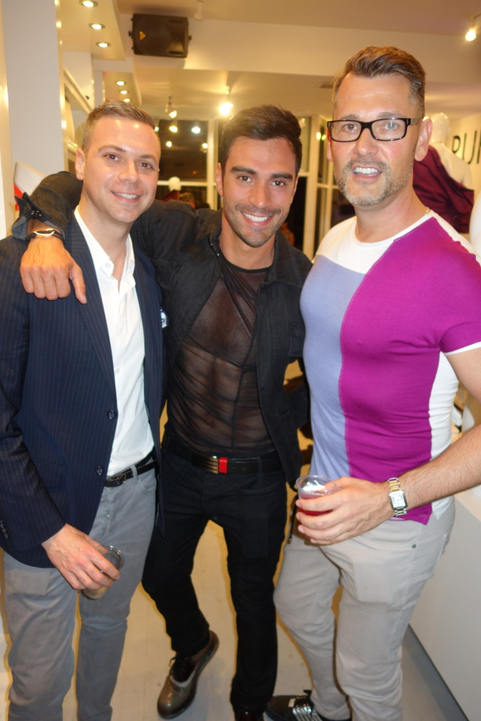 Rufskin Face, Rodiney Santiago (Center) & Rufskin Store Owner, John Thompson (Right)