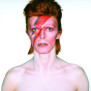 Album cover shoot for Aladdin Sane, 1973