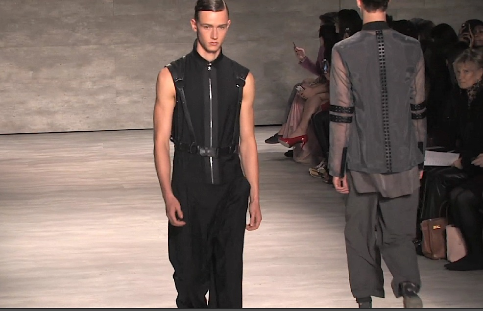 Korean Designer Juyoung Lee Uses Sheer Light Fabrics For Her Spring 2015 Menswear But Keeps It Dark With Harness Accents Progressive Pulse
